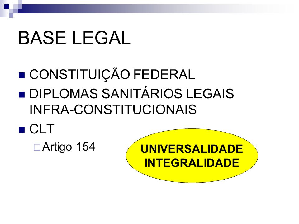 BASE LEGAL CONSTITUIÇÃO FEDERAL