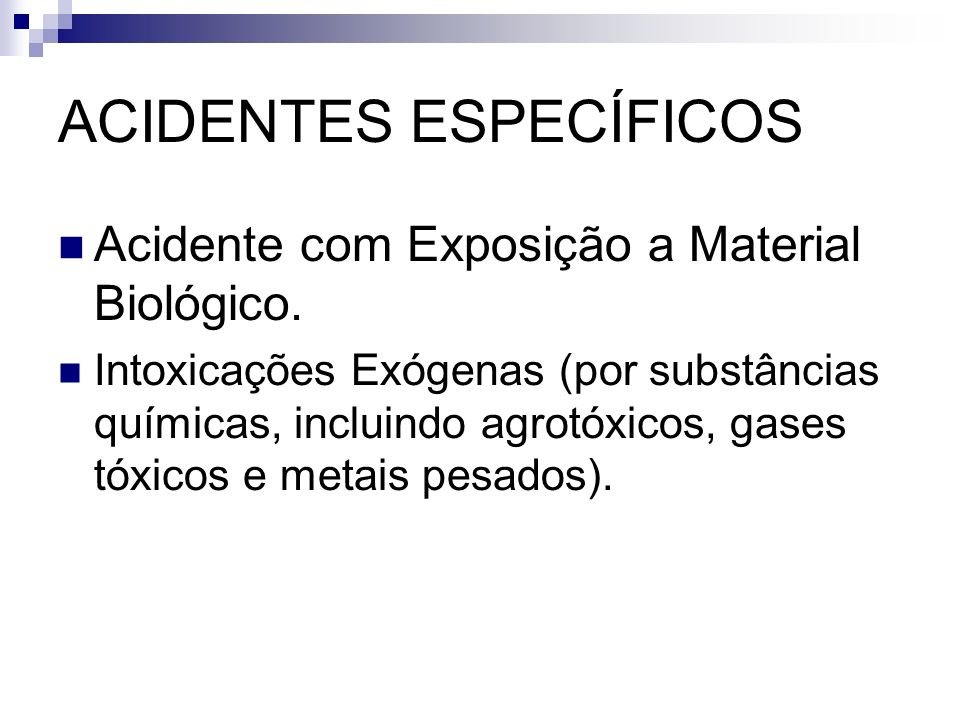 ACIDENTES ESPECÍFICOS