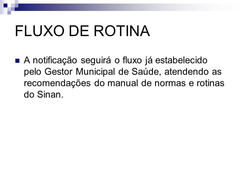 FLUXO DE ROTINA