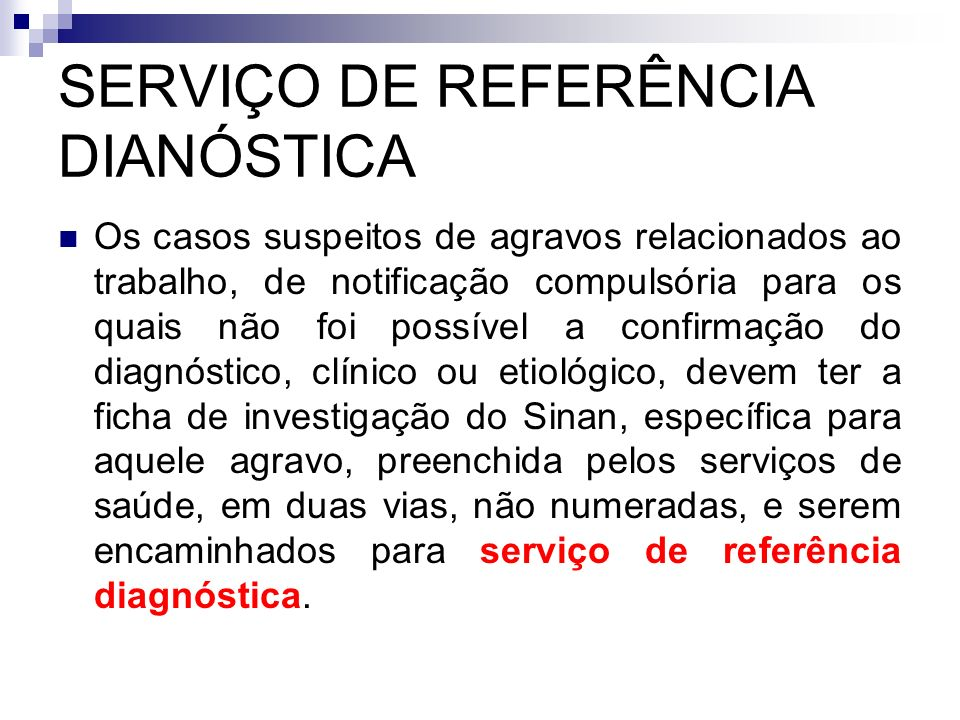 SERVIÇO DE REFERÊNCIA DIANÓSTICA