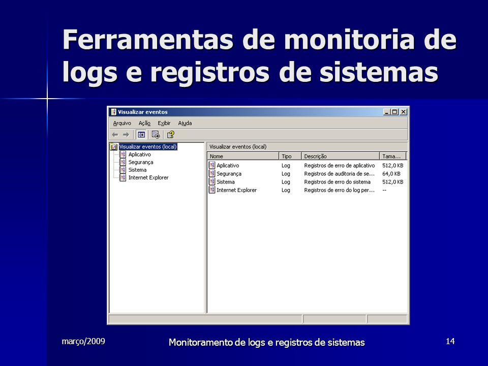 Ferramentas de monitoria de logs e registros de sistemas