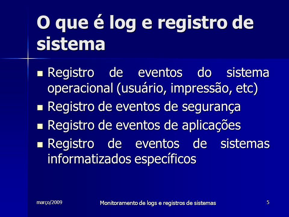 O que é log e registro de sistema
