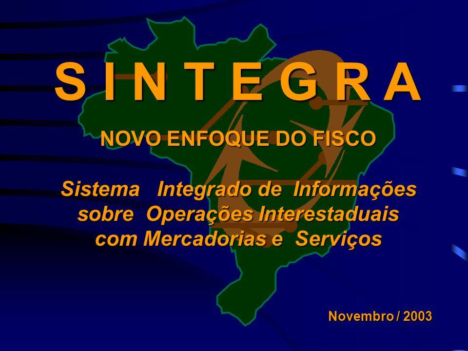 S I N T E G R A NOVO ENFOQUE DO FISCO Sistema Integrado de Informações
