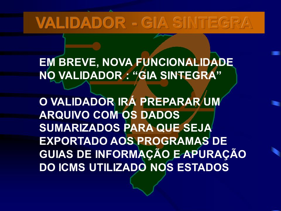 VALIDADOR - GIA SINTEGRA