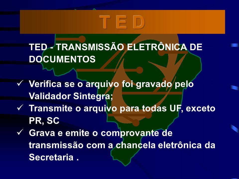 T E D TED - TRANSMISSÃO ELETRÔNICA DE DOCUMENTOS
