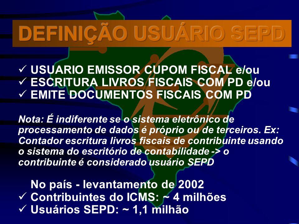 DEFINIÇÃO USUÁRIO SEPD