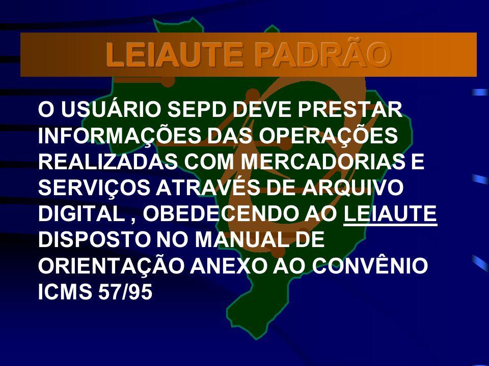 LEIAUTE PADRÃO
