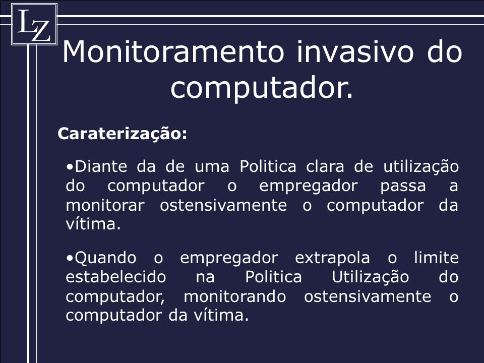 Monitoramento invasivo do computador.