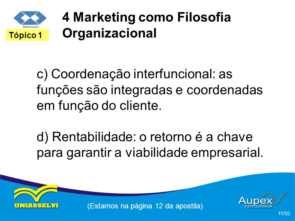 4 Marketing como Filosofia Organizacional