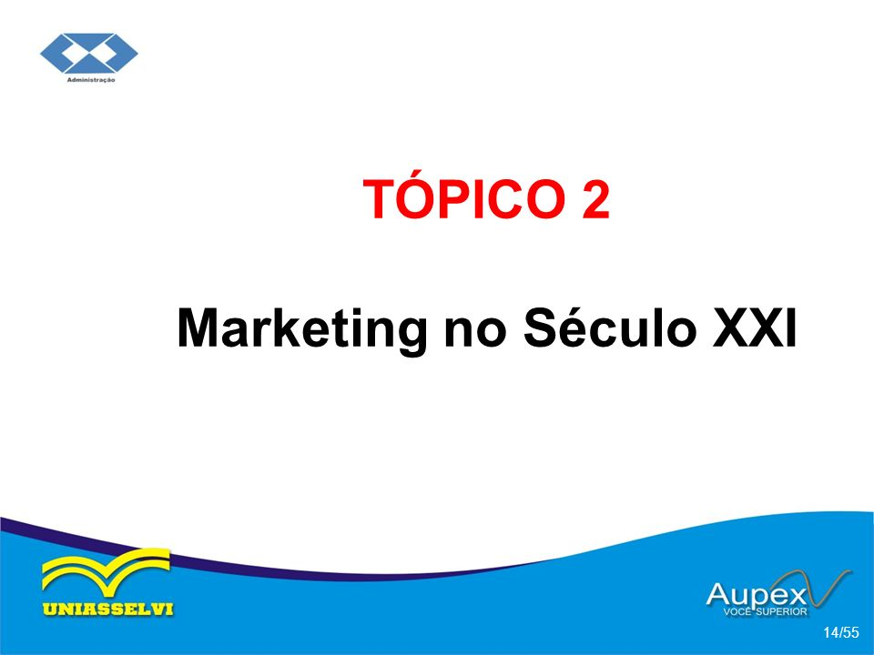 TÓPICO 2 Marketing no Século XXI