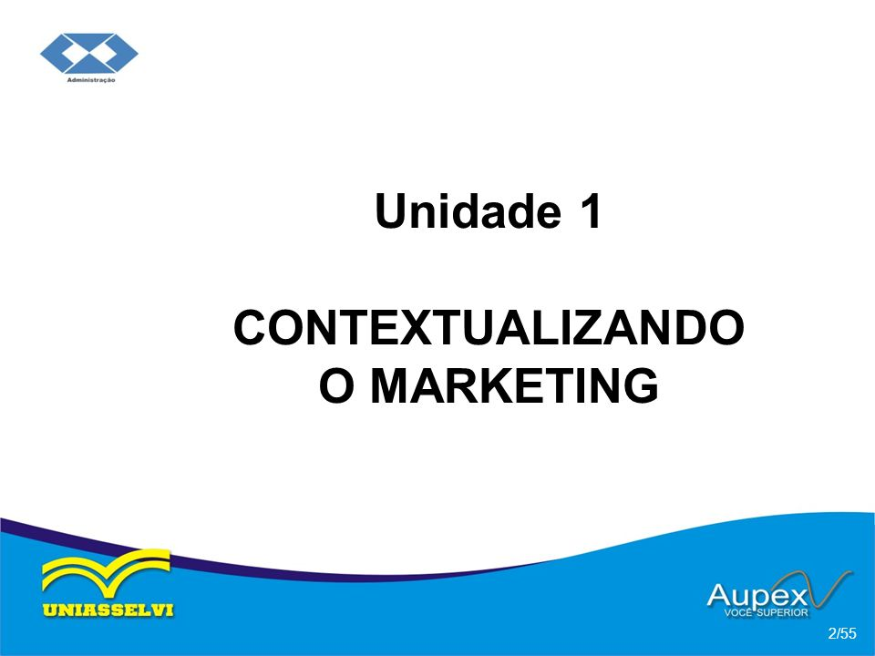 Unidade 1 CONTEXTUALIZANDO O MARKETING