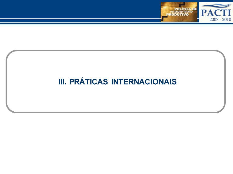 III. PRÁTICAS INTERNACIONAIS