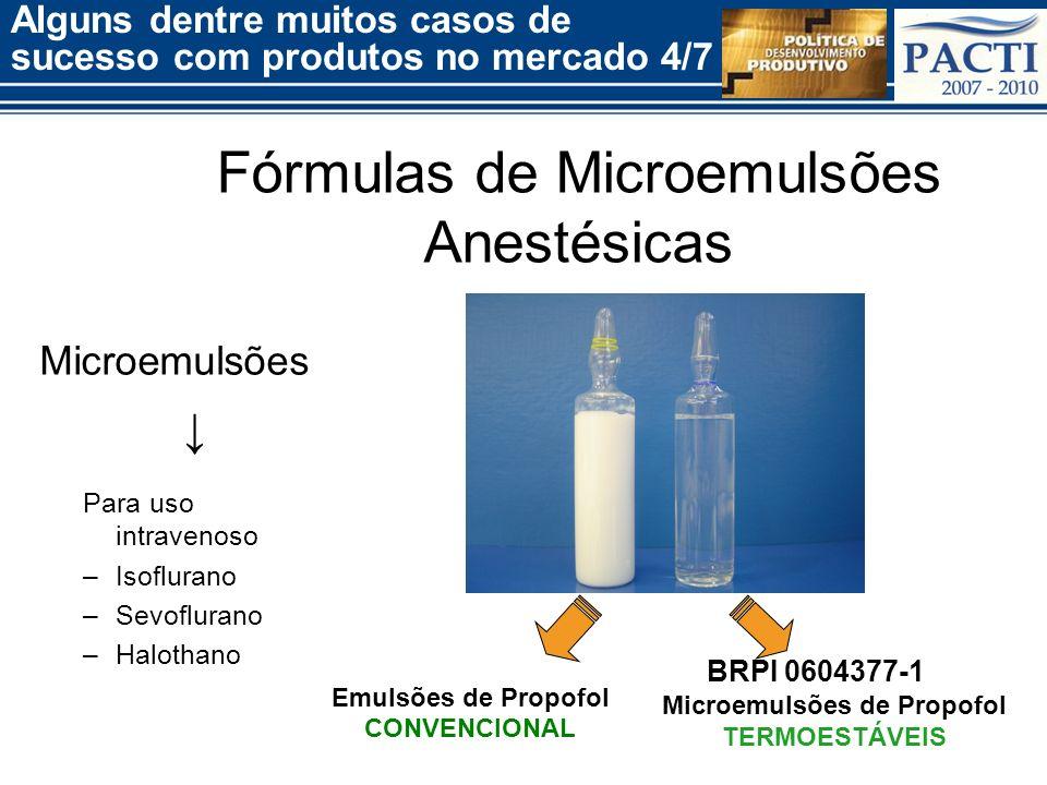 Fórmulas de Microemulsões Anestésicas