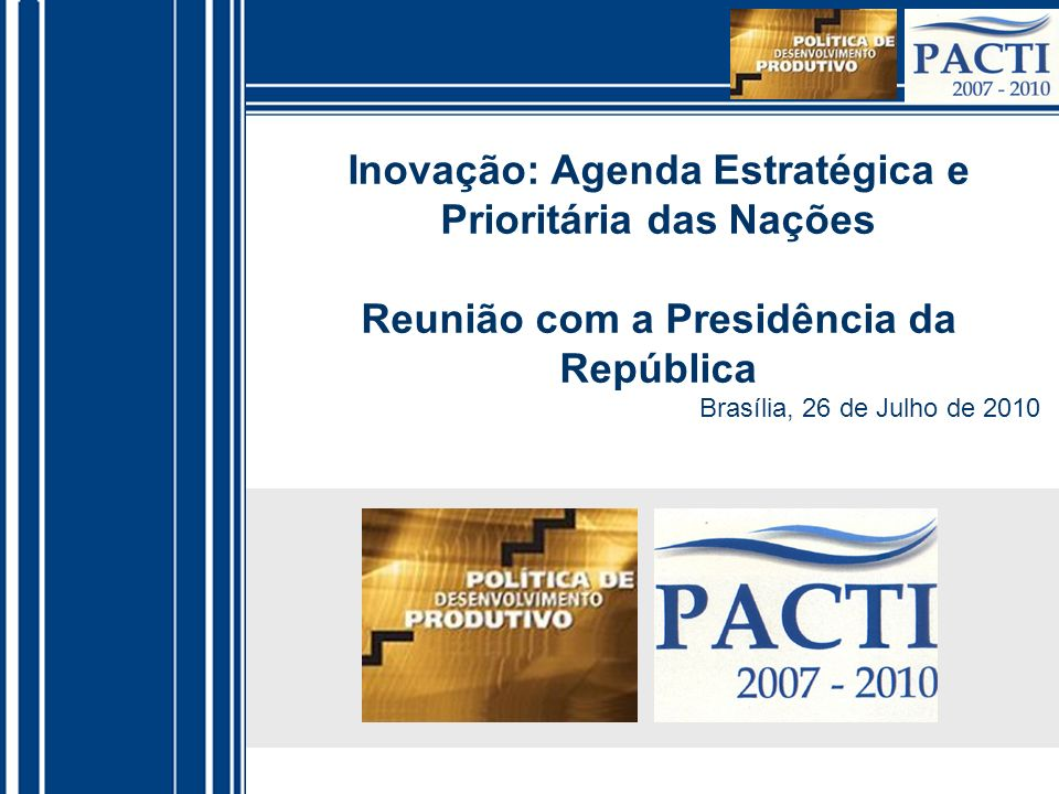 Inovação: Agenda Estratégica e Prioritária das Nações