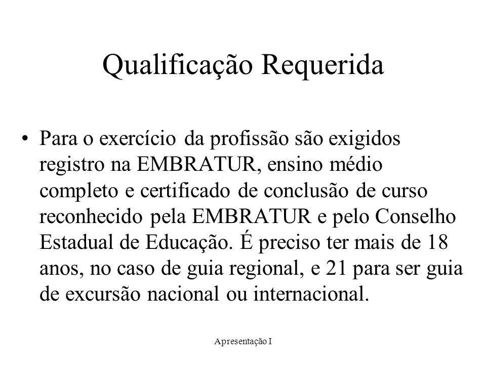 Qualificação Requerida