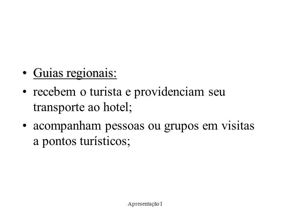 recebem o turista e providenciam seu transporte ao hotel;
