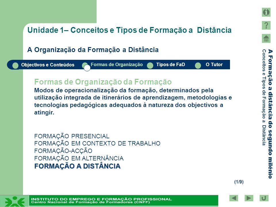 Formas de Organização da Formação