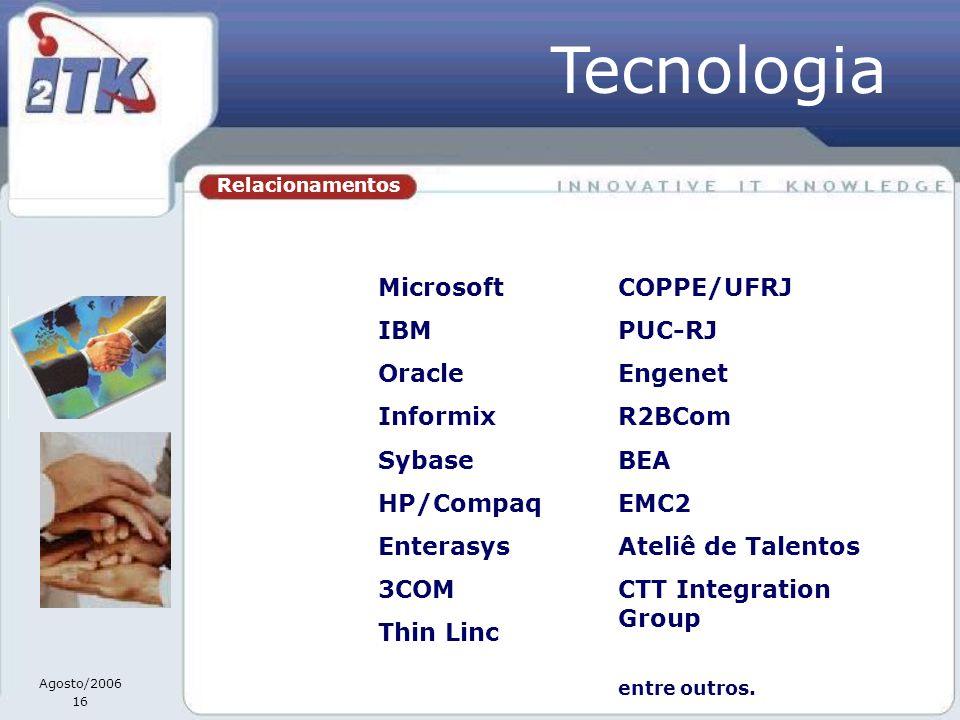 Tecnologia Microsoft IBM Oracle Informix Sybase HP/Compaq Enterasys