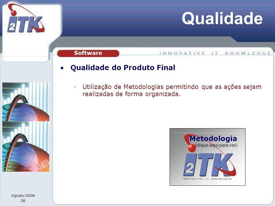 Qualidade Qualidade do Produto Final Metodologia