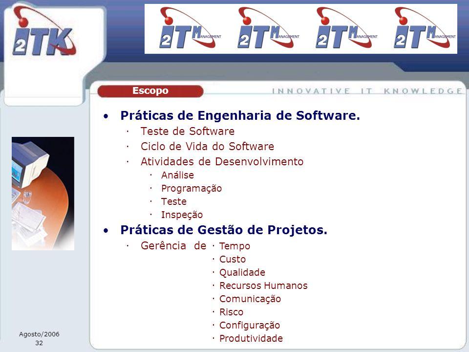Práticas de Engenharia de Software.