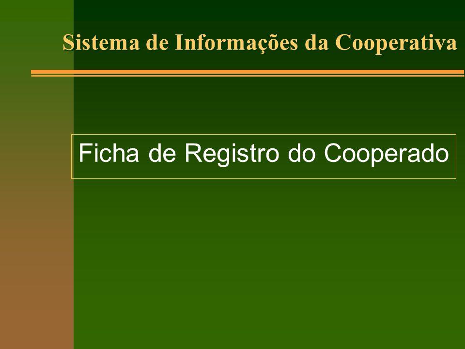 Ficha de Registro do Cooperado