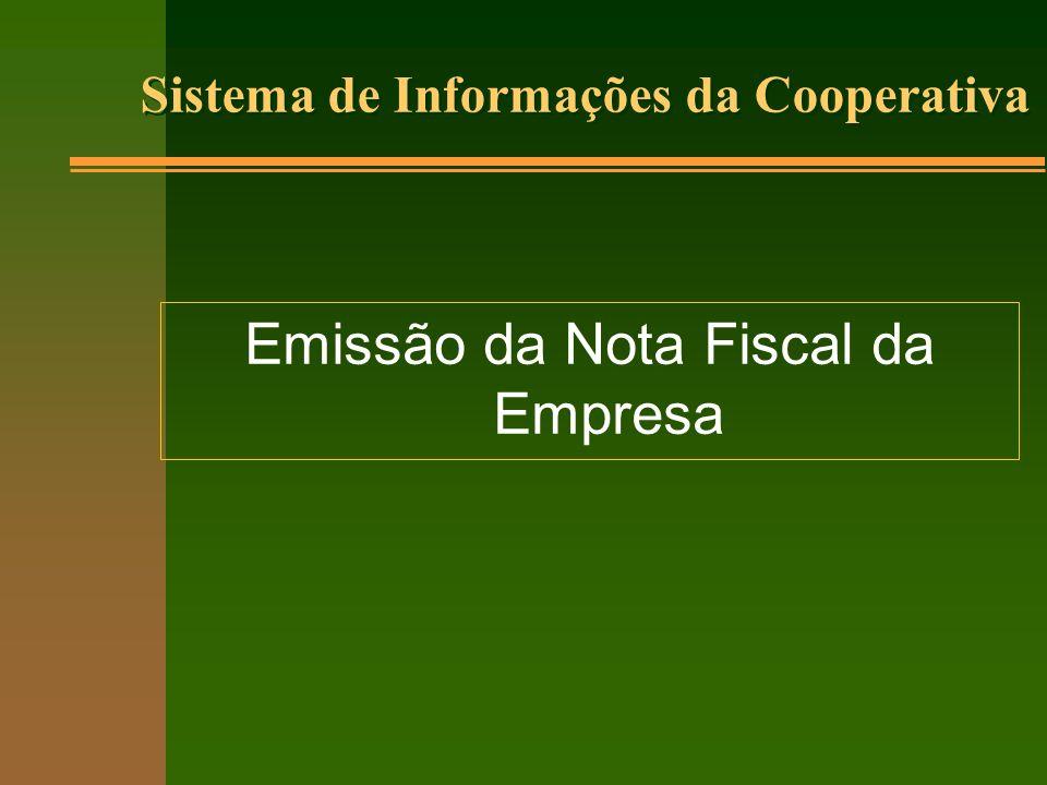 Emissão da Nota Fiscal da Empresa