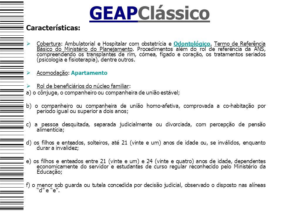 GEAPClássico Características: