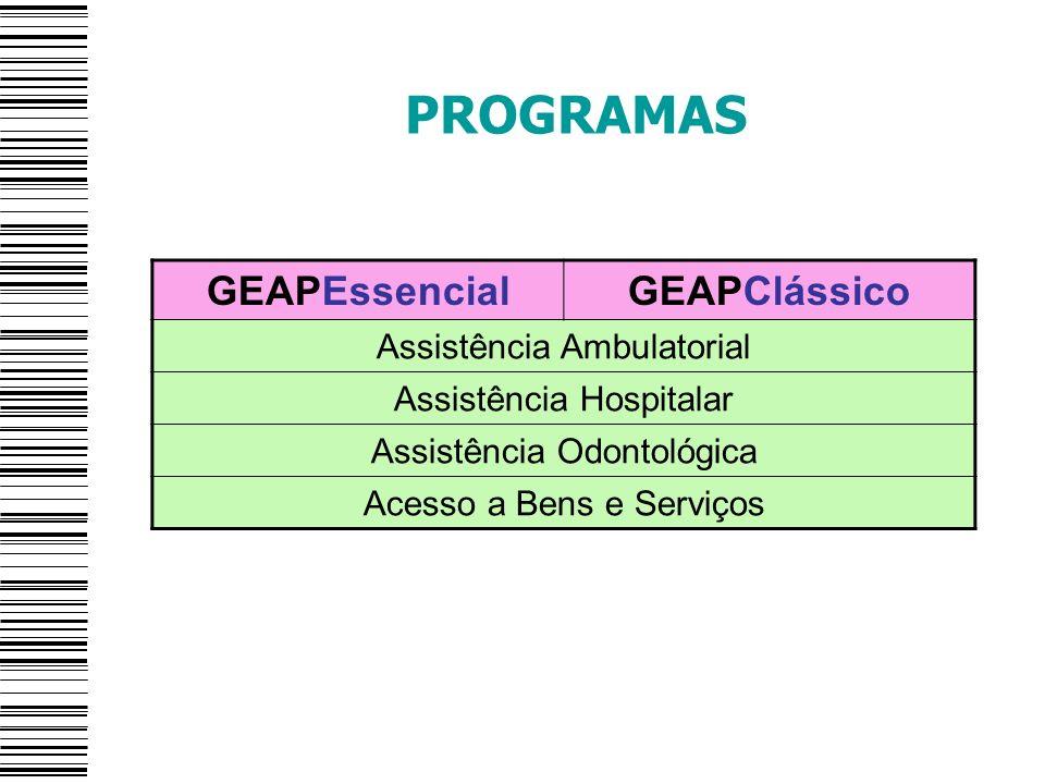 PROGRAMAS GEAPEssencial GEAPClássico Assistência Ambulatorial