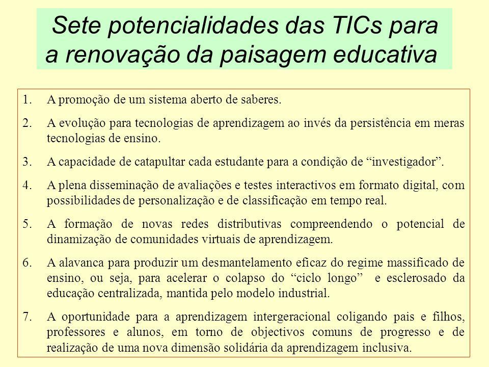 Sete potencialidades das TICs para a renovação da paisagem educativa