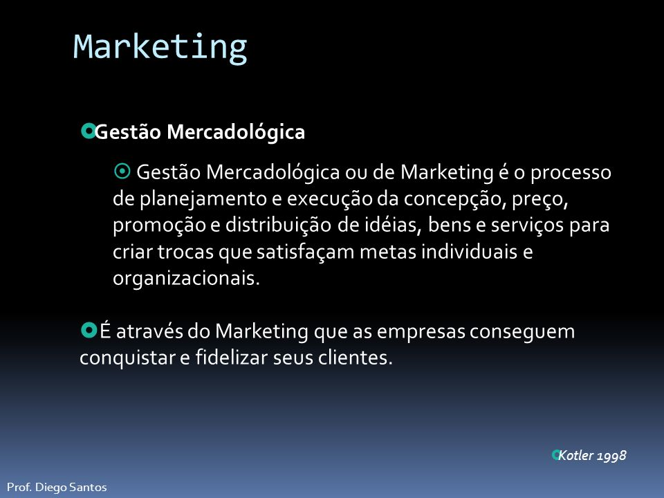 Marketing Gestão Mercadológica