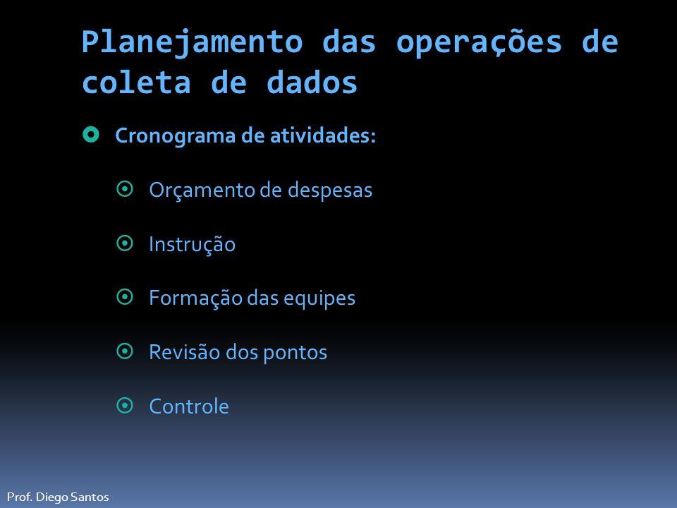 Planejamento das operações de coleta de dados