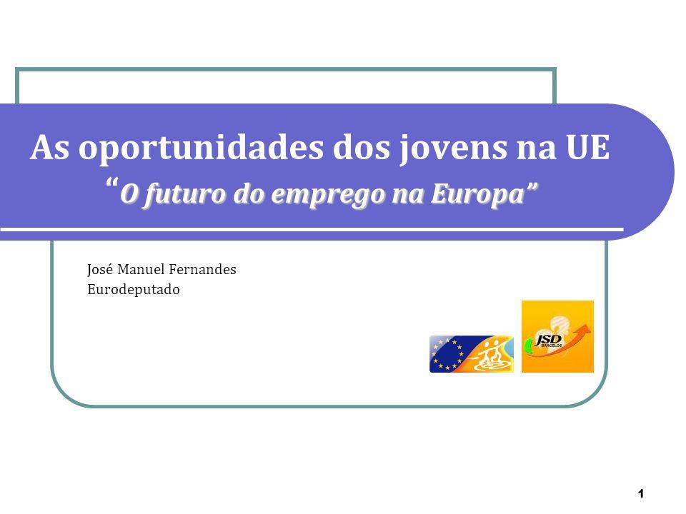 As oportunidades dos jovens na UE O futuro do emprego na Europa