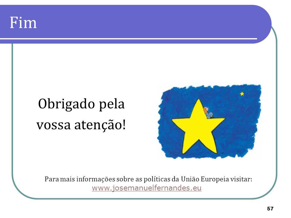 Para mais informações sobre as políticas da União Europeia visitar: