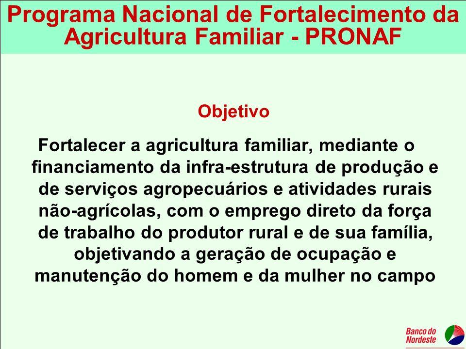 Programa Nacional de Fortalecimento da Agricultura Familiar - PRONAF