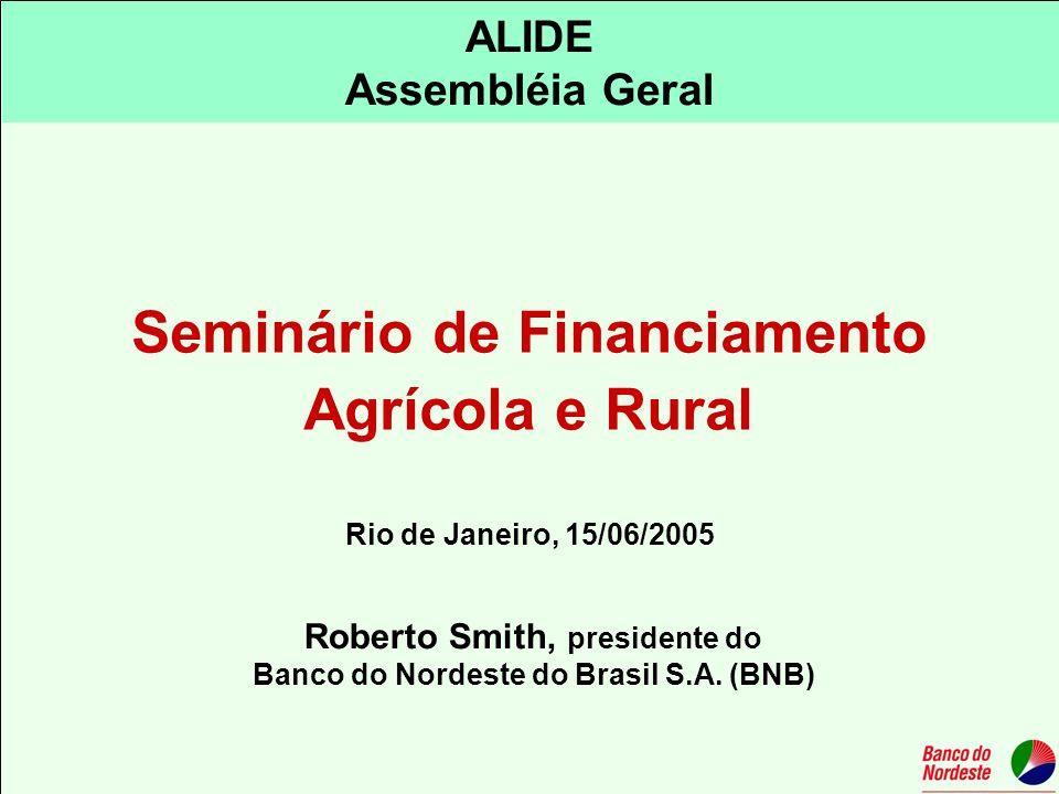 Seminário de Financiamento Agrícola e Rural