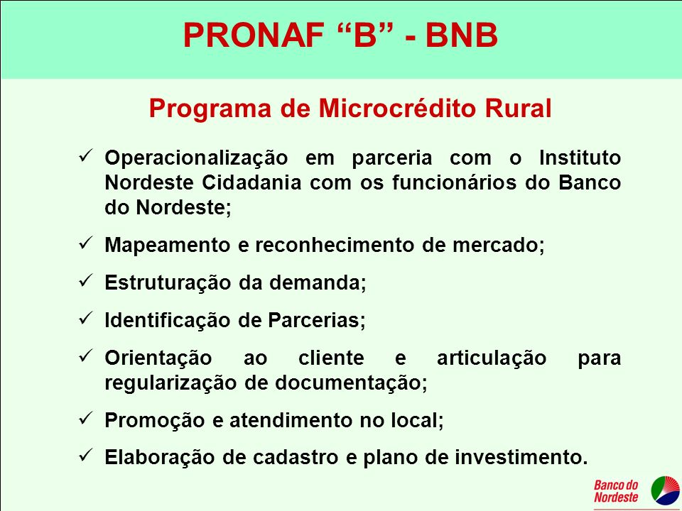 Programa de Microcrédito Rural