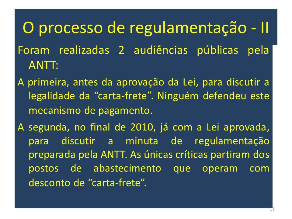 O processo de regulamentação - II