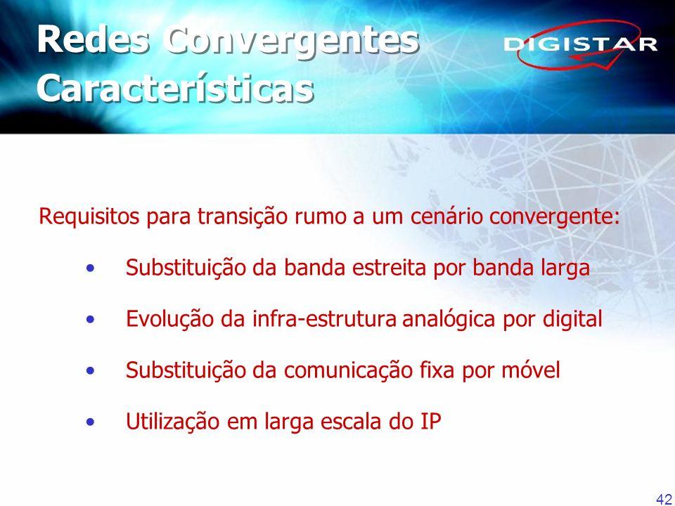 Redes Convergentes Características