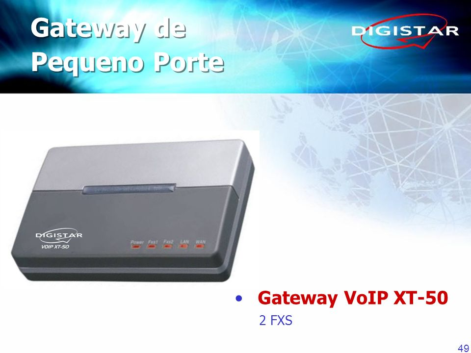 Gateway de Pequeno Porte Gateway VoIP XT-50 2 FXS