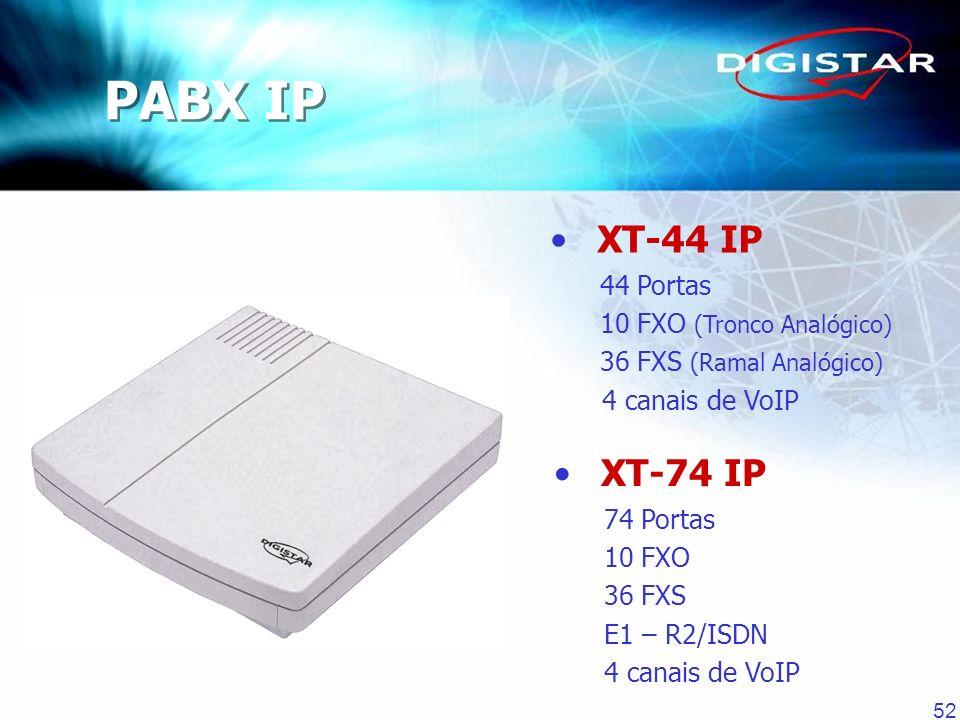 PABX IP XT-44 IP XT-74 IP 44 Portas 10 FXO (Tronco Analógico)
