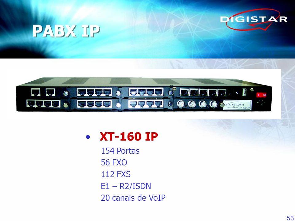 PABX IP XT-160 IP 154 Portas 56 FXO 112 FXS E1 – R2/ISDN