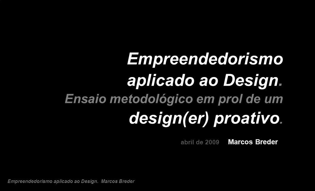 Empreendedorismo aplicado ao Design.