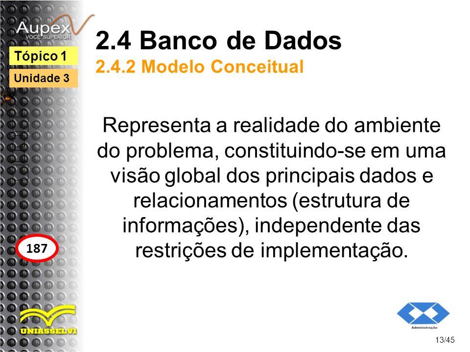 2.4 Banco de Dados 2.4.2 Modelo Conceitual