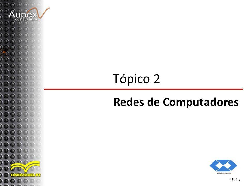 Tópico 2 Redes de Computadores 16/45