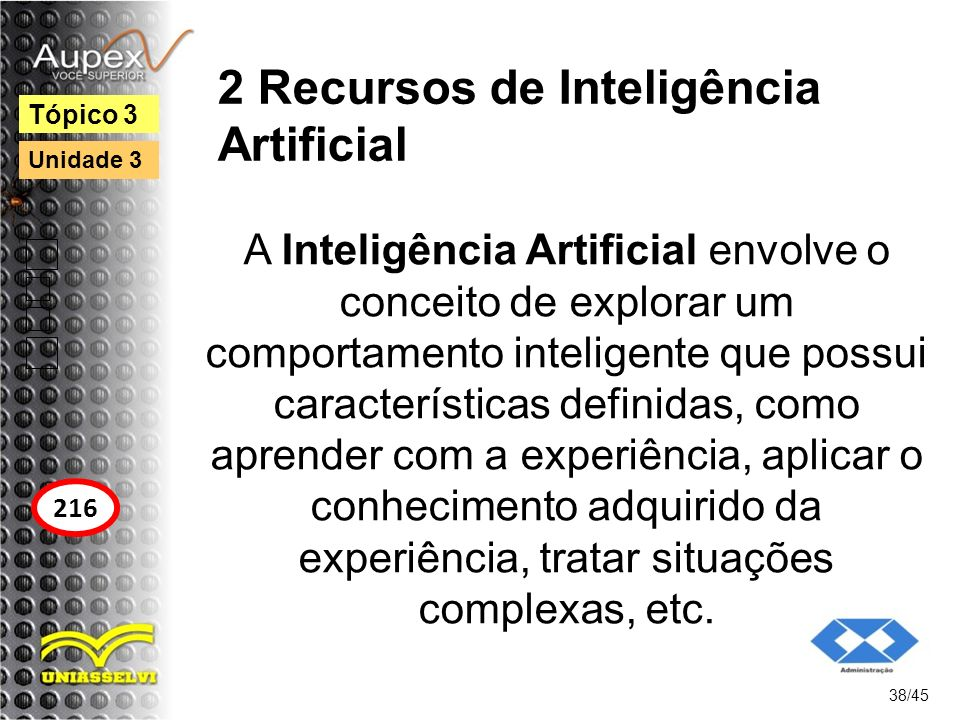 2 Recursos de Inteligência Artificial