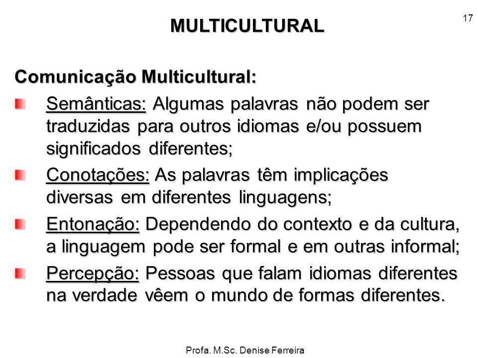 Comunicação Multicultural: