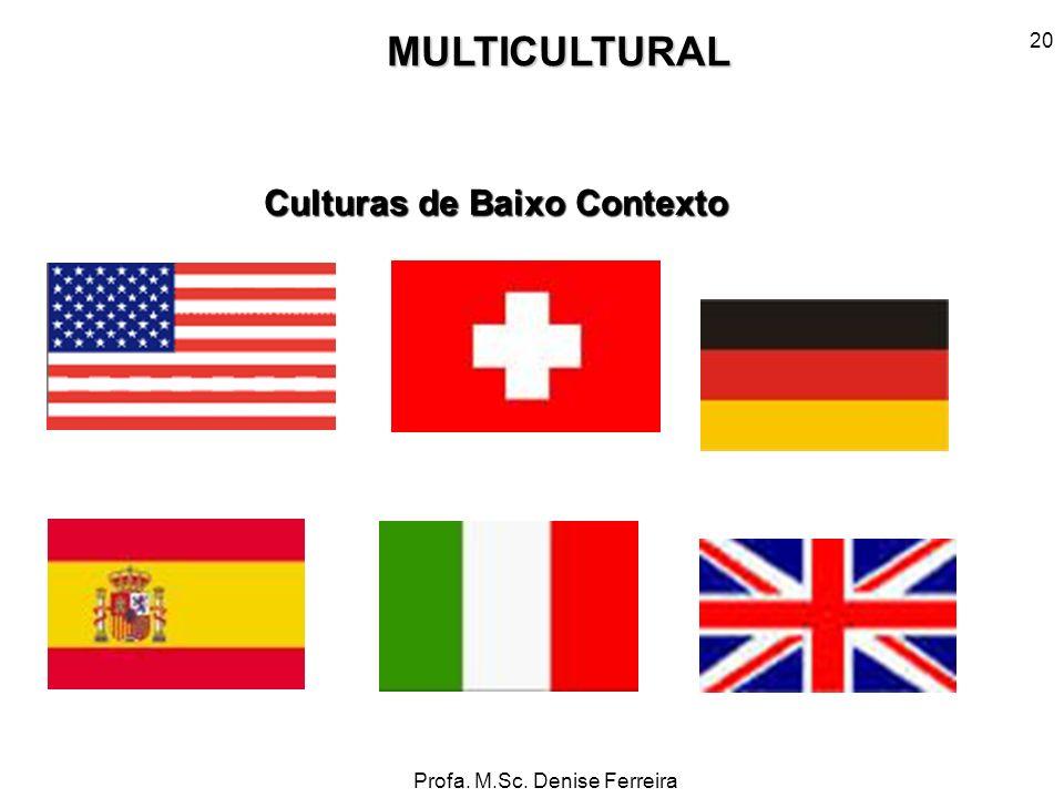 MULTICULTURAL Culturas de Baixo Contexto 20