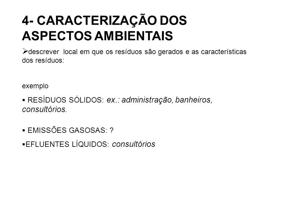 4- CARACTERIZAÇÃO DOS ASPECTOS AMBIENTAIS