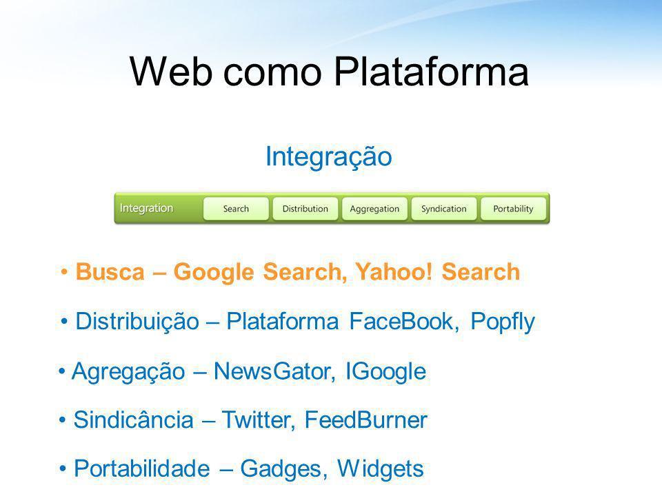 Web como Plataforma Integração Busca – Google Search, Yahoo! Search