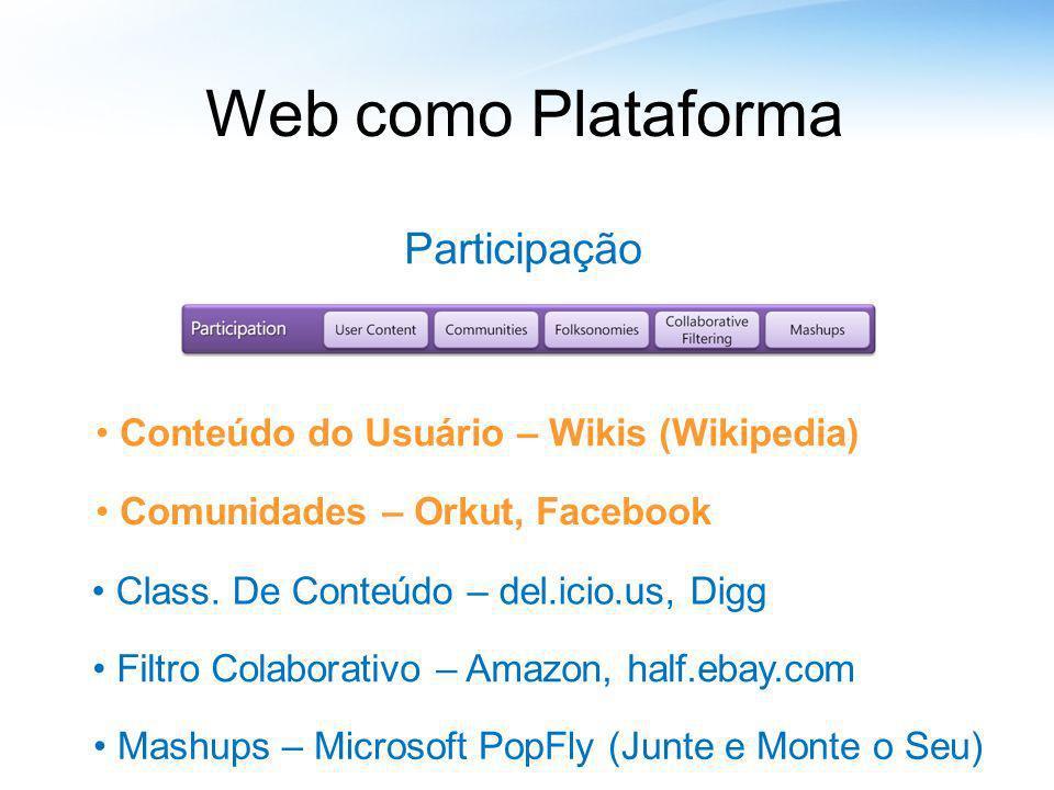 Web como Plataforma Participação